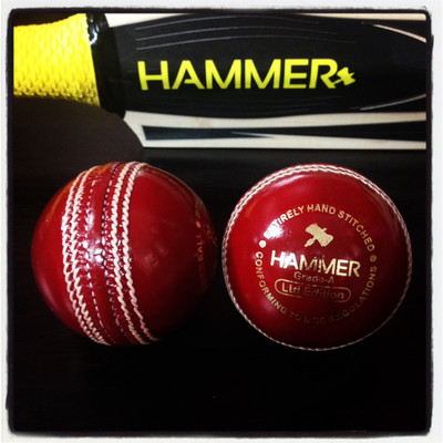 The Hammer LE red cricket ball will be great for 30, 40 and 50 over cricket