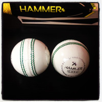 The Hammer core white cricket ball will be great for T20 cricket and net sessions.