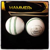 Hammer Pro/Match White Cricket Ball