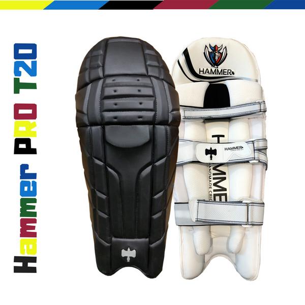 Hammer Pro T20 Cricket Batting Pads 2018 Black