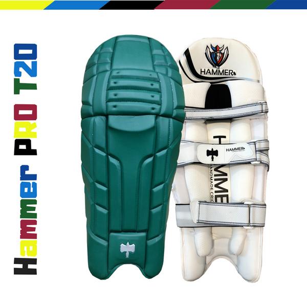 Hammer Pro T20 Cricket Batting Pads 2018 dark Green