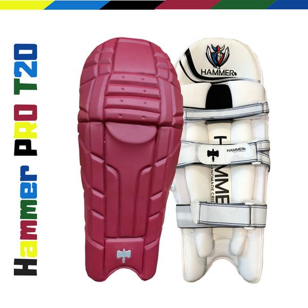 Hammer Pro T20 Cricket Batting Pads 2018 Maroon