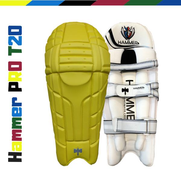 Hammer Pro T20 Cricket Batting Pads 2018 Yellow