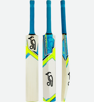 The Kookaburra Verve 100 cricket bat, has been handmade using English willow with durable 'non-oil' pro shield facing and painted back.
