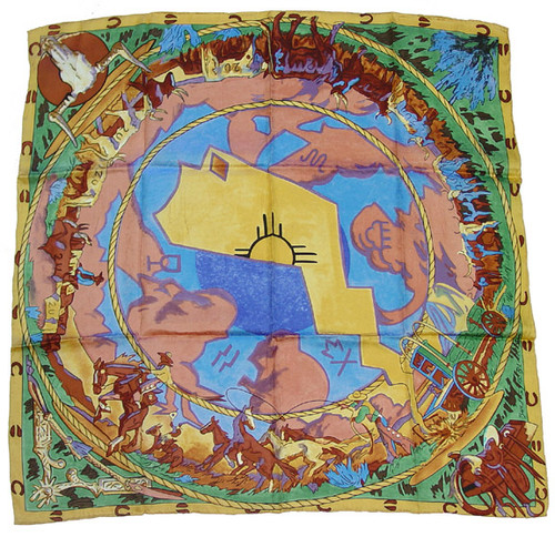 Southwest Cattle Drive Silk Wild Rag