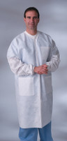Classic Lab Coats with Knit Collar and Knit Cuffs
