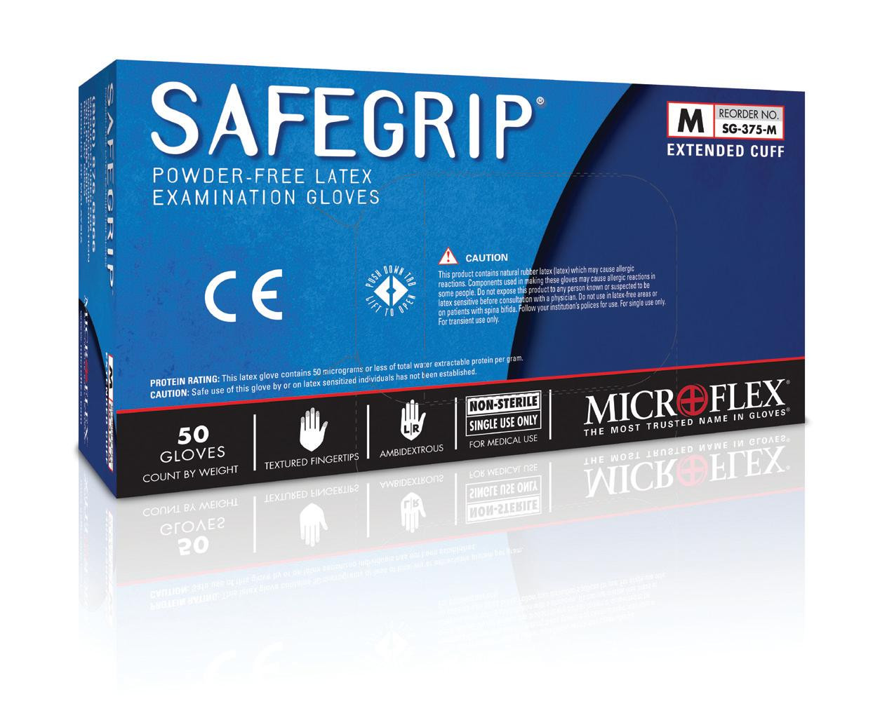 Microflex SafeGrip Latex Powder Free Gloves