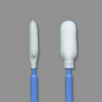 "Foamtec HT1511-FC 4"" Flexible Medium Cylinder CleanWIPE® Tip Microfiber Swab"