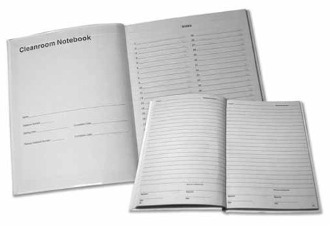 """Texwipe TX5708 Sewn Bound Blue Notebook 8.5"""" x 11"""""""