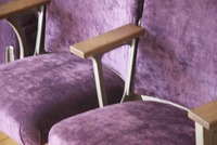 Monroe Avenue ornate cinema seats in purple velvet