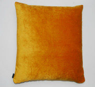 Distressed Velvet Cushion - Hot Orange - 50 x 50cm