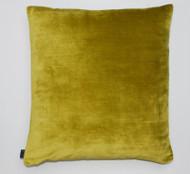 Distressed Velvet Cushion - Chartreuse Green - 50 x 50cm