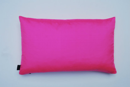 Plain Silk Cushion - Bubble Gum Pink