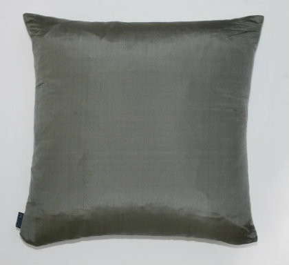 Plain Silk Cushion - Grey
