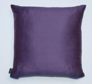 Slubby Silk Cushion - Purple