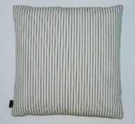 Contemporary Ticking Cushion - Black & White Thin Stripe - 50cm x 50cm