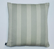Wide Stripe Ticking Cushion - Duck Egg Blue - 50cm x 50cm