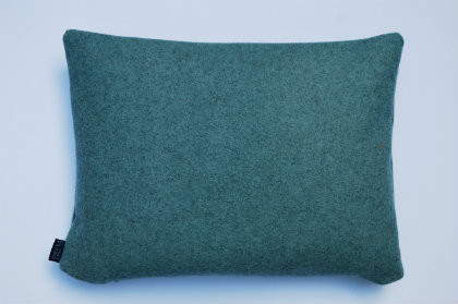 Wool Cushion - Duck Egg Blue Sustainable Wool - 40cm x 30cm