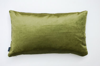 Silk Velvet Cushion - Deep Green - 40cm x 30cm