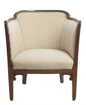 The absolute must have tub chair in cream herringbone