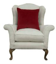 Monroe Avenue the perfect antique chair in cream linen/cotton mix (#1)