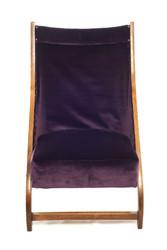 Monroe Avenue Aubergine purple velvet folding chair