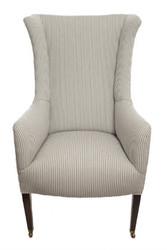 Monroe Avenue Edwardian ladies armchair in contemporary ticking