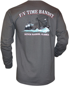 F/V Time Bandit Men's Long Sleeve Shirt Charcoal