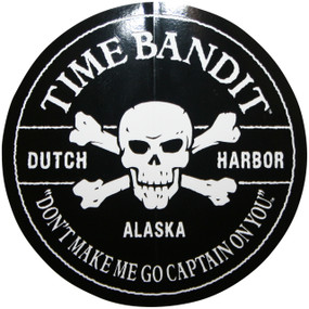 "Don't Make Me Go Captain On You Sticker 3"" Diameter"