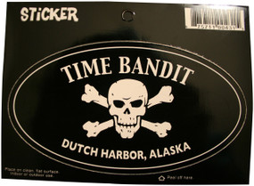 Time Bandit Dutch Harbor Oval Sticker