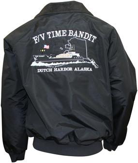 ***AUTOGRAPHED*** F/V Time Bandit Bomber Jacket Black
