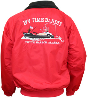 **AUTOGRAPHED**  F/V Time Bandit Bomber Jacket Red