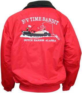 **AUTOGRAPHED**  F/V Time Bandit Bomber Jacket Red