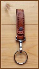 Honey Brown Ostrich Key Hanger