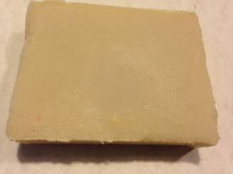 "Fifty Shades Triple Butter Soap Coconut Oil, Olive Oil, Sweet Almond Oil, Shea, Cocoa, Mango Butter, Castor Oil, Distilled Water, Sodium Hydroxide, Fifty Shades Fragrance Oil. A seductive marriage of tainted rose and wild geranium with addictive, ""can't live without it"" notes of bergamot and gold amber. Weighes approx. 4 ounces"