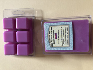 Handmade Melts Coconut Hibiscus 100% American Soy Wax 6 Cavity Melt Clamshell. Made for Warmers  Weighes 3.12oz
