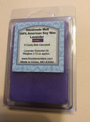 Handmade Melts Lavender 100% American Soy Wax 6 Cavity Melt Clamshell Lavender Essential Oil. Made for Warmers Melts provide a quick and safe and clean alternative to enjoying scented candles in your home. Scent lasts and long time. 10 hr to 30 hr maybe longer. Weighes 3.12oz
