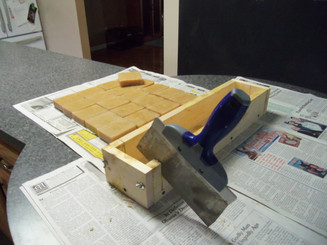 Slicing loaf mold into bars