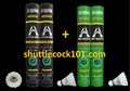 Shuttlecock101.com - best prices for Aeroplane shuttlecock EG-1130, the Black Label and G-1130, the Green Label. Best prices for the best badminton shuttlecocks. Buy more and save more. Best bulk discount for Aeroplane shuttlecock EG1130, G1130 and EG1130-LE