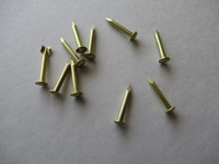 Escutcheon brass pin nails  round head 10pk