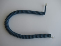 Teal Blue  Coil handset cord  Modular