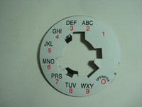 Western Electric Telephone Dail Plate laminated   Alpha numeric