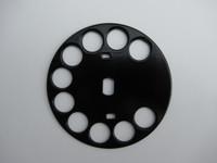 Solid Brass Fingerwheel Powder coated Black