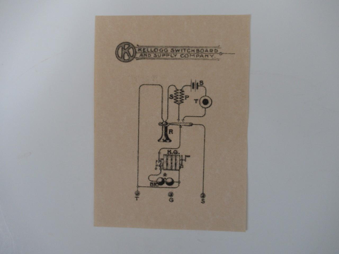 Kellogg Wood Wall Telephone Glue On Diagram Old Phone Shop Store