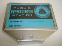 3 slot payphone top flag  upper telephone sign and card set