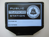 Top Flag Sign  3 slot  Payphone  Black