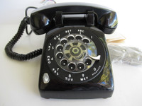 Rotary Dial Phone NOS  Bakelite Handset Army sealed  500 series