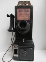 gray/ western 50k 3 slot payphone