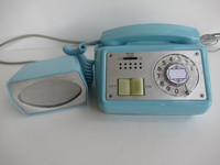 880 speaker phone Automatic Electric Aqua 1950s