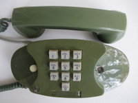 Green 10 button Princess touch tone  phone